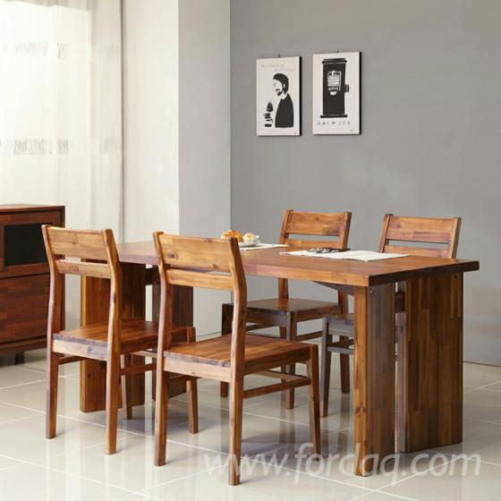 Dining Chair Furniture/ Bench/ Table Made of Finger Jointed Melia