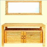 Asia Living Room Furniture - Ash Wooden Under Basin Cabinet with Mirror / Furniture from Vietnam