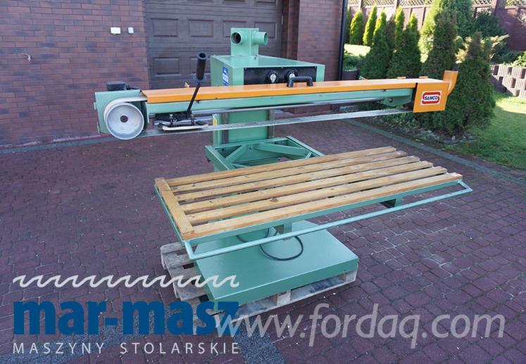 Ponceuse à courroie longue SAMCO EE / 1500, levage électrique, ventilateur d'extraction de poussière