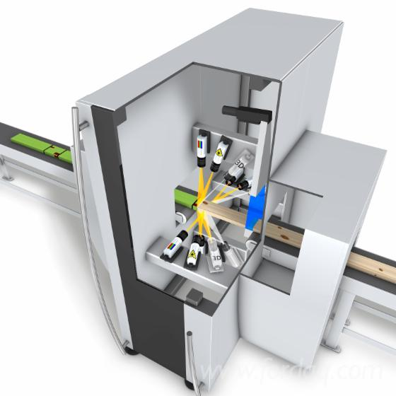 Lumber scanner for high-speed optimizing crosscuts - CombiScan Evo