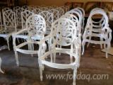 Indonesia Dining Room Furniture - Dining Chairs Carver White Painted Furniture