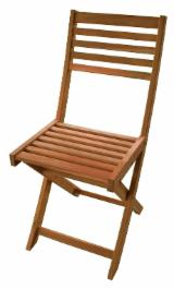 Garden Furniture - WCF087.01 Outdoor Wooden Folding Chair, Acacia, Oiled finishing
