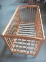 Children's Room - Beech Baby Crib/Bed
