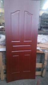 Oak Sapele Walnut Teak Melamine HDF moulded door skin