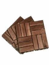 Garden Wood Tile Garden Products - Natural Color Outdoor Interlocking Wooden Deck Tiles