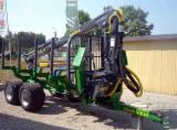 Forest & Harvesting Equipment - Used Farma Forestry Trailer With Crane