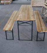 Gartenmöbel Zu Verkaufen - Traditionell Chinesische Spießtanne (Cunninghamia Lanceolata) Gartensitzgruppen Beer Table Set China zu Verkaufen