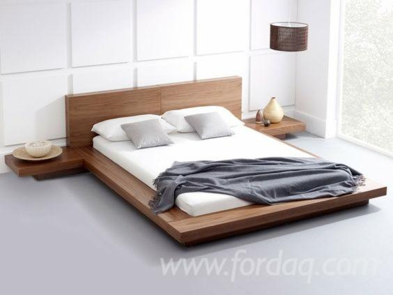 Eco-Friendly-Wooden-Bed-with-Modern-Design-from-Acacia--Pine