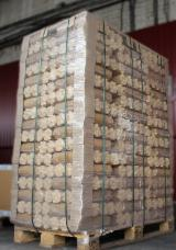 Cylindrical wood briquettes