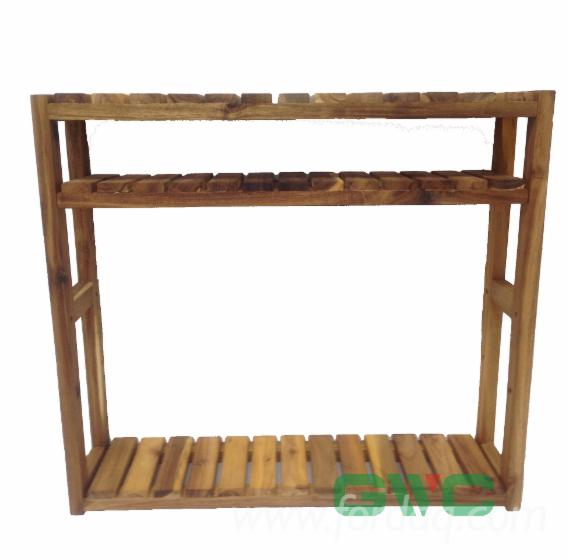 Adjustable-Acacia-Shelving-Unit