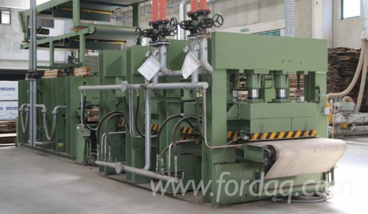 Gebraucht-Angelo-Cremona-2001-Automatische-Furnierpresse-F%C3%BCr-Ebene-Fl%C3%A4chen-Zu-Verkaufen