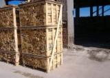 Kiln dried birch, ash firewood on pallet boxes