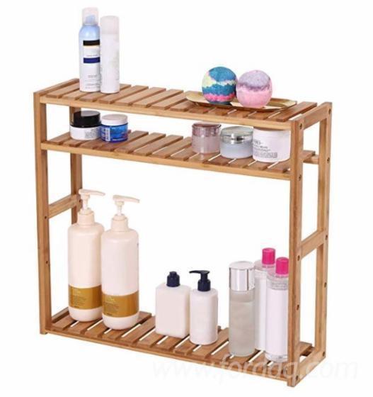 Vietnam Adjustable Shelf Rack/ Multifunctional Wooden Rack 3-Tier for Bathroom Living Room Kitchen