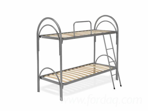 White, Black, Red, Aluminum Arco Bunk Beds