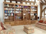 Indonesia Living Room Furniture - Beech/ Birch/ Oak Library, Bookcase Sets