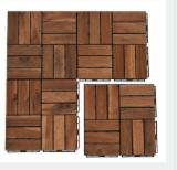 Easy-to-lay Vietnam Outdoor Flooring Tiles/ Cheap Price Wooden Interlocking Deck Tiles for Sale