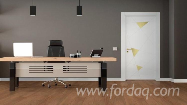 Drzwi, HDF ('High Density Fibreboard), Okleina Laminowana - Winyl