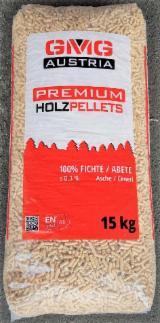 Pellet in 100% Abete Bianco GMG Austria EnPlus A1, sacchi 15 Kg