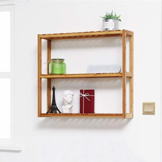 Vietnam Bathroom Adjustable Shelf Rack/ Multifunctional Wooden Rack 3-Tier for Home Application