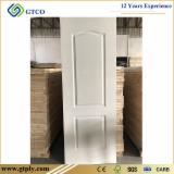 6 panel white primed HDF moulded door skin panel