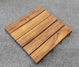 Teak Wood Interlocking Deck Tiles 300x300mm