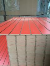 Veneer And Panels - 15mm 18mm slotted mdf board slat wall panel slot board
