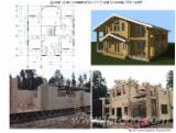 Дерев'яні Будинки - Будинки З Будівельного Бруса, Ялина - Біла, Сосна Звичайна