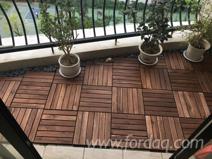 2018 Acacia Wood Deck Tile Outdoor Patio Floor Tiles For Balcony