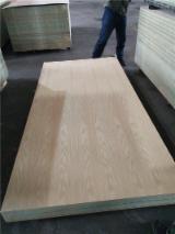 Engineered Panels for sale. Wholesale Engineered Panels exporters - 6mm Green color Oak veneer laminated MDF board waterproof glue