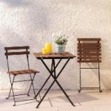 Portable Table and Chair Outdoor Furniture for Balcony, Cafe