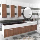 Bathroom Furniture - Contemporary MDF panel Cabinets Turkey