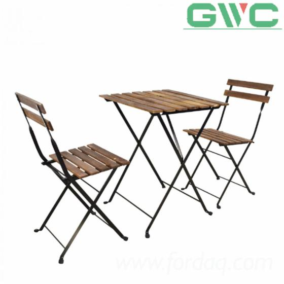 Vietnam-3-pieces-Bistro-Set--Wood-Foldable-Garden-Set-include-1-Table-and-2