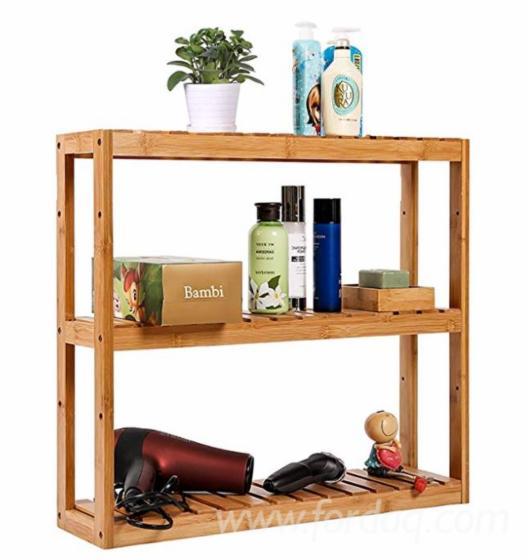 Adjustable Bathroom Shelf 3-Tier/ Wall Mount Shelf for Living Room Kitchen Balcony