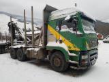 Oprema Za Šumu I Žetvu Kamion Za Prevoz Dužih Stabala - Kamion Za Prevoz Dužih Stabala MAN Polovna 2002 Rumunija