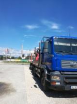 Oprema Za Šumu I Žetvu Kamion Za Prevoz Dužih Stabala - Kamion Za Prevoz Dužih Stabala MAN Polovna 2004 Rumunija