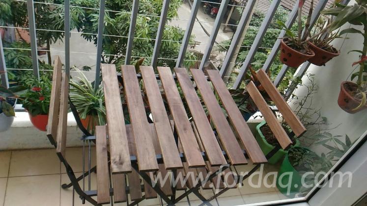 Acacia Wood Balcony Bar Set/ Outdoor Furniture 3-pieces Bistro Set