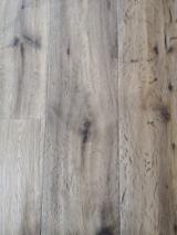 Smoked/Handcrafted/Brushed Oak Flooring (Poplar/Pine Core), 15 mm