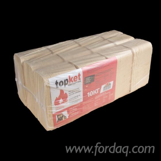 Fuel wood briquetes «topKet» from Pine