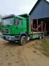 Oprema Za Šumu I Žetvu Kamion Za Prevoz Dužih Stabala - Kamion Za Prevoz Dužih Stabala MAN Polovna 1999 Rumunija