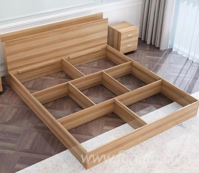 . MDF Modern Bedroom Furniture Wooden Bed