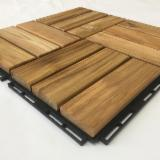 Teak Wood Interlocking Deck Tile/ Waterproof Teak Wood Outdoor Flooring Tiles for Swimming Pool