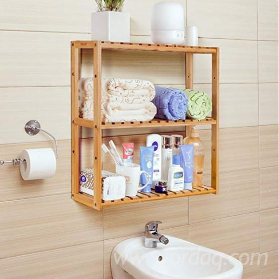 Wall-Mounted-3-Tier-Multinational-Shelf-Rack-Wood-Adjustable-Shelf-Bathroom-Kitchen-Living