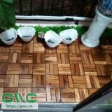 Garden Acacia Flooring/Interlocking Plastic Base Acacia Deck Tiles