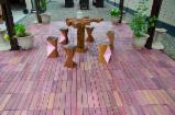 South America Garden Products - Ipe Wood Tiles With Plastic Under Based