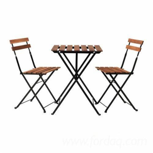 Foldable Bistro Set for Balcony/ Table & Chair Set for Small Balcony Apartment Space