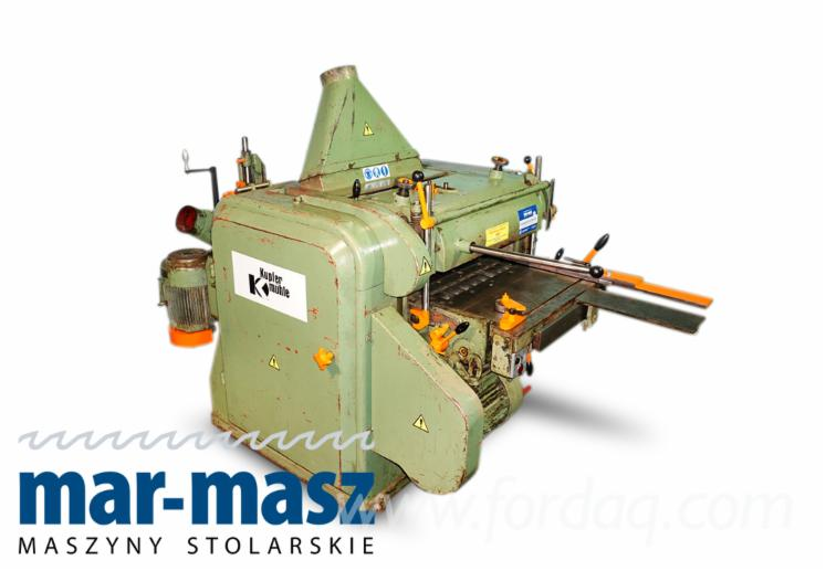 Four-side planer KUPFERMUHLE 60, machine for processing bales, floor tiles, etc., planer for wet wood