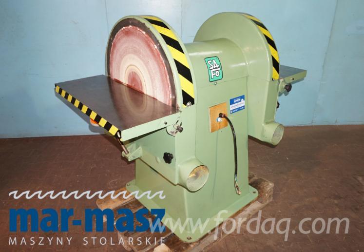 SAFO DZTA 63 Doppelscheibenschleifer, Horizontal- und Winkelschleifen, Holzschleifer