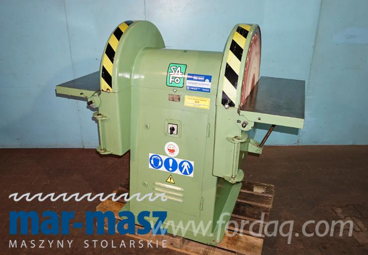 SAFO DZTA 63 double disc sander, horizontal and angle grinding, wood grinder