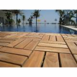 Vietnam Teak Wood Snap-In Deck Tiles