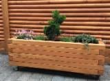 Négoce De Produits De Jardin En Bois - Jardinière rectangulaire en Robinier Jardiniere en bois Jardinière bois en chene